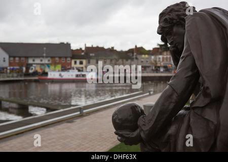 Statue of Hamlet in Stratford-upon-Avon - Stock Photo