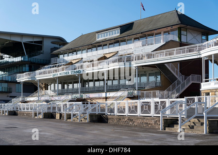 The Queen Mother stand at Aintree racecourse in Liverpool home of the Grand National - Stock Photo