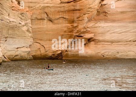 kayaking in lake powell,usa - Stock Photo