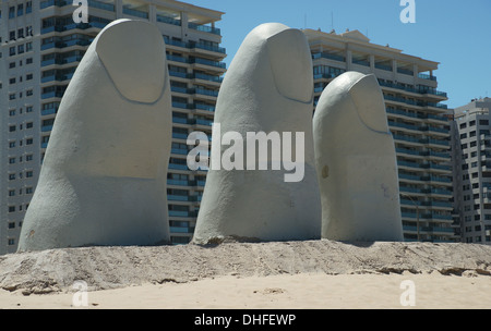 Iconic Punta del Este Sculpture - Stock Photo