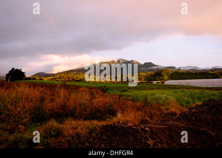 Far view of Volcan Baru in Chiriqui highlands province Republic of Panama - Stock Photo