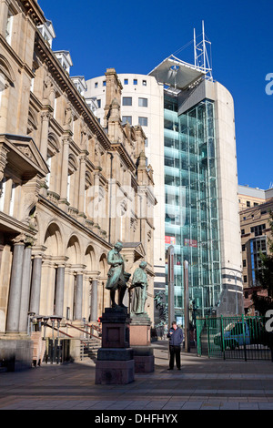 The Old Post Office with the 1 City Square building behind, Leeds, West Yorkshire - Stock Photo