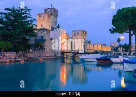 Sirmione is a commune at lake Garda in the province of Brescia, in Lombardy, northern Italy - Stock Photo