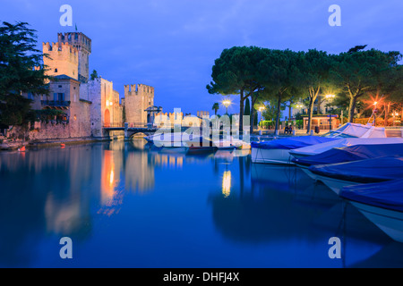 Sirmione is a comune at lake Garda in the province of Brescia, in Lombardy, northern Italy - Stock Photo