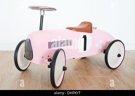 retro pink toy car - Stock Photo