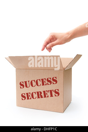Secrets of success concept - Stock Photo
