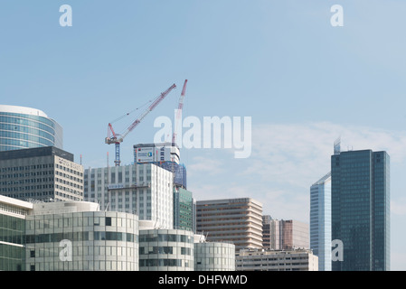 Skyscrapers in the financial district of La Defense, Paris, France, Europe. - Stock Photo