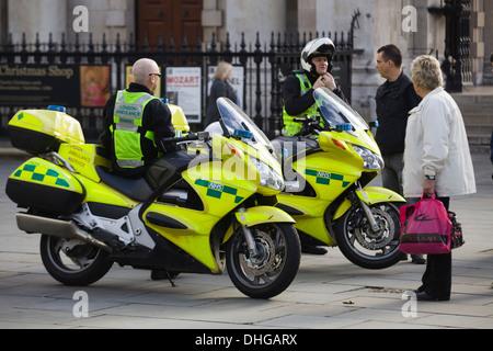 NHS Motorcycle Ambulance Service England - Stock Photo