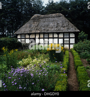 Abernodwydd farmhouse set in the grounds of the St Fagans National Museum of History, Cardiff, Wales, UK - Stock Photo