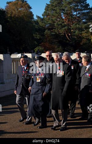 Bournemouth, UK Sunday 10 November 2013. Remembrance Sunday Parade and wreath laying - representatives of armed - Stock Photo