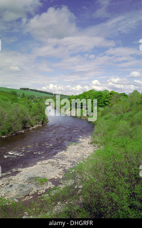 Ettrick Water, Ettrick Valley, Selkirkshire, Borders, Scotland, UK - Stock Photo