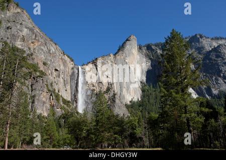 Bridalveil Fall - Yosemite, California USA - Stock Photo
