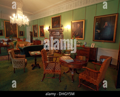 Green Room Dunham Massey, NT, Near Altrincham, Cheshire, England, UK - Stock Photo