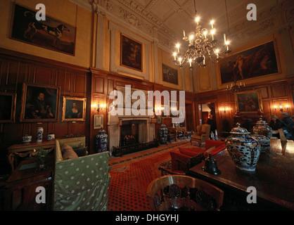 The Great Hall, Dunham Massey, in the evening. NT near Altrincham, Cheshire, England, UK - Stock Photo