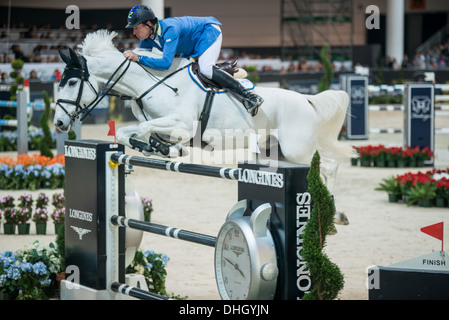 Christian Ahlman wins Longines FEI Worldcup in Verona with Aragon Z - Stock Photo