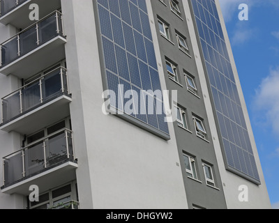 Austin House Walsall eco tower block with Solar PV , West Midlands , England , UK WS4 2AF - Stock Photo