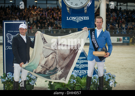 Verona, Fiera Verona, 09.11.2013, JUMPING VERONA 2013 - LONGINES FEI WORLD CUP, Ahlmann, Christian - Aragon Z (GER) - Stock Photo
