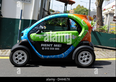Funchal Madeira. Renault Twizy for rent 100% electric vehicle - Stock Photo