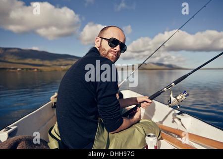 Man on fishing trip