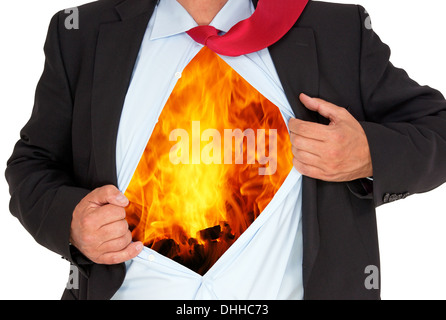 Business Man with Burnout - Stock Photo