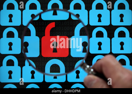 Internet security lock - Stock Photo