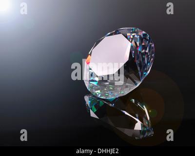 Diamond, close up - Stock Photo