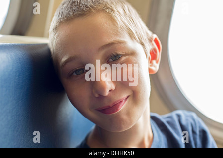 Close up portrait of boy - Stock Photo
