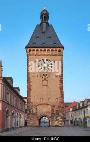 View of city gate Altportel, Speyer, Rhineland-Palatinate, Germany, Europe - Stock Photo