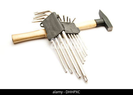 Torx Wrench Set with Hammer - Stock Photo