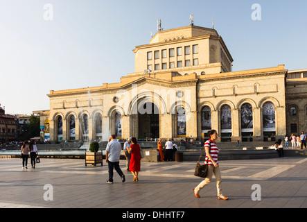 National Art Gallery at the Republic Square, Yerevan, Armenia - Stock Photo