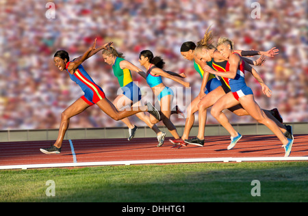 Runners at finish line - Stock Photo