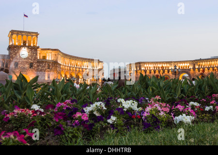 Western and older part of Republic Square. Yerevan, Armenia - Stock Photo