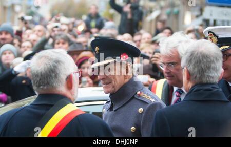 Ypres, Belgium - 11th November 2013 - HRH Duke of Edinburgh at Ypres Menin Gate Ceremony 'The Gathering of the Soil' - Stock Photo