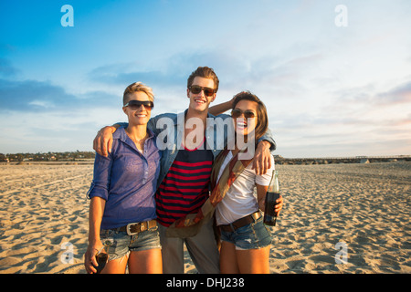 Young people on Mission Beach, San Diego, California, USA - Stock Photo
