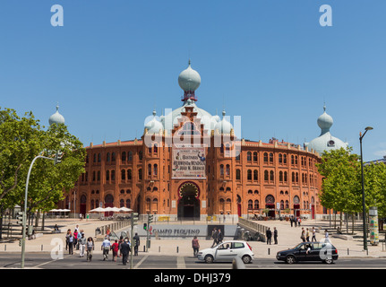 The Campo Pequeno Bullring / Praca de Touros do Campo Pequeno, bull ring in Lisbon, Portugal - Stock Photo
