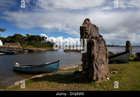 Inishmicatreer Island in Lough Corrib, County Galway/Mayo Border, Ireland - Stock Photo