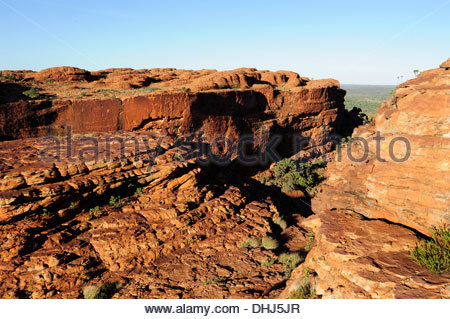 Kings Canyon, gorge in the Watarrka National Park, part of the George Gill Range, Outback, Northern Territory, NT, - Stock Photo