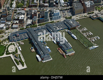 aerial photograph Chelsea Piers, Manhattan, New York City - Stock Photo