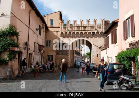 Street scene in Trastevere, Rome, Italy
