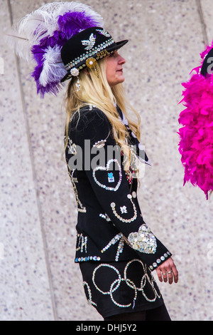Pearly Kings&Queens Harvest Festival Parade-London - Stock Photo