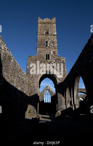 Kilconnell Friary founded 1353 on site of a 6th Century Franciscan monastery closed in the 17th Century, County - Stock Photo