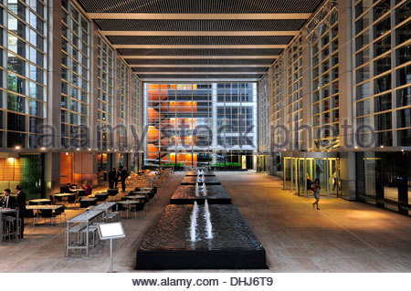 Lobby of the Deutsche Bank Place, a skyscraper in the Central Business District, CBD, Sydney City, Sydney, New South - Stock Photo