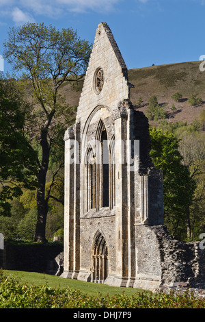 Valle Crucis Abbey, Llantysilio, near Llangollen, Denbishire, Wales - Stock Photo
