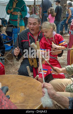 Native American Festival at Oleno State Park in North Florida. - Stock Photo