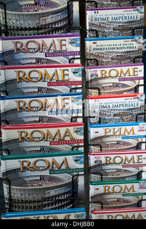 Guide books of Rome in different languages, Rome, Italy - Stock Photo