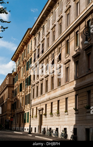 Via Portico d'Ottavia in Jewish ghetto district in Rome, Italy - Stock Photo