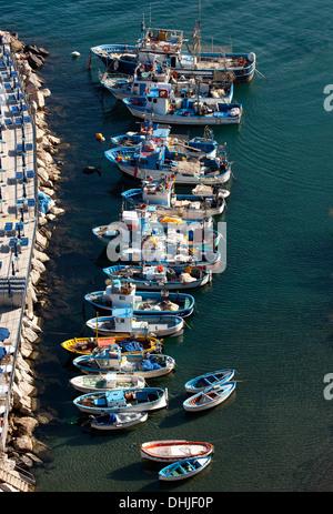 Fishing boats are parked in the Marina Grande; Sorrento,Italy. - Stock Photo