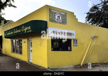 little havana in miami on the florida coast - Stock Photo