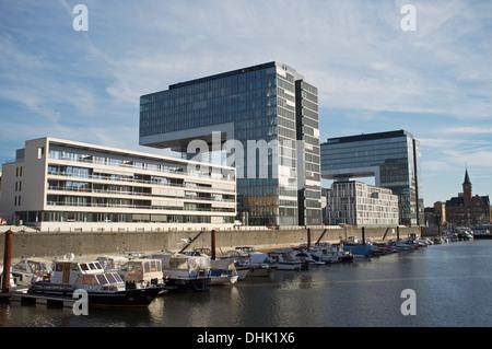 Cologne marina Germany - Stock Photo