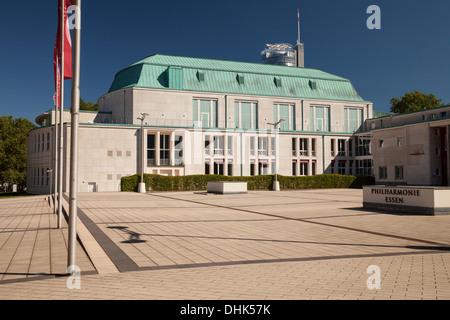 Germany, North Rhine Westphalia, Essen, view to philharmonic hall, - Stock Photo